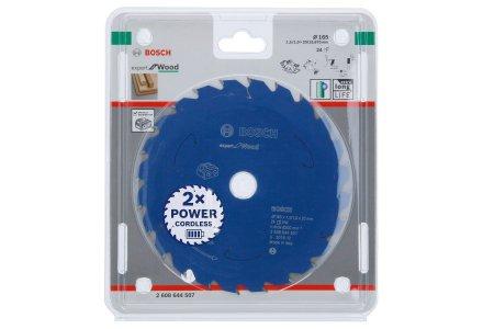 Bosch cirkelzaagblad voor accuzagen 165x20x24 T Expert for Wood