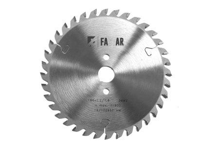 Fastar HM cirkelzaagblad 225x30x64 2.6/1.8 Trapezium vlaktand (neg)
