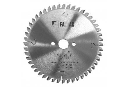 Fastar HM cirkelzaagblad 160x20x48 2,2/1,6 Trapezium vlaktand (neg)