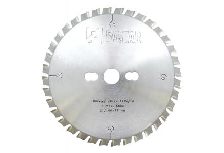 Fastar HM cirkelzaagblad 180x20x36 2,2/1,6 WZ/FA