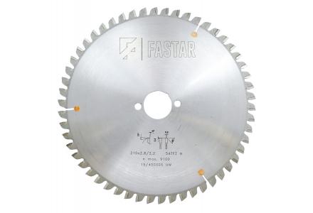 Fastar HM cirkelzaagblad 210x30x54 2.8/1.8 Trapezium vlaktand (neg)