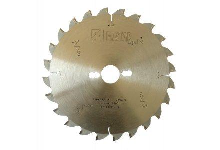 Fastar HM cirkelzaagblad 216x30x24 2.8/1.8 wisseltand negatief