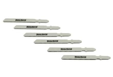 Universele decoupeerzaagbladen set 6 delig metaal (T-schacht)