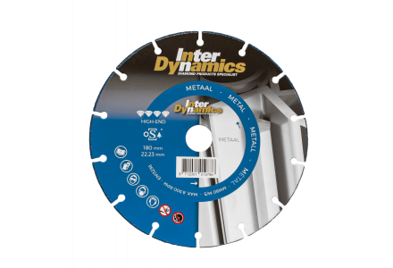 InterDynamics Metaal High-End diamantzaagblad 230mm asgat 22.23mm