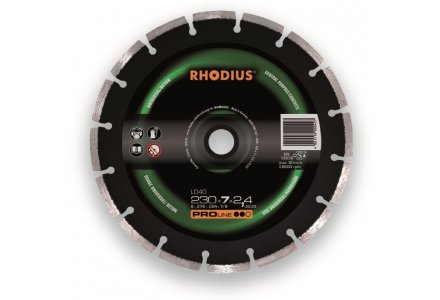 Rhodius LD40 universeel diamantzaagblad 230mm