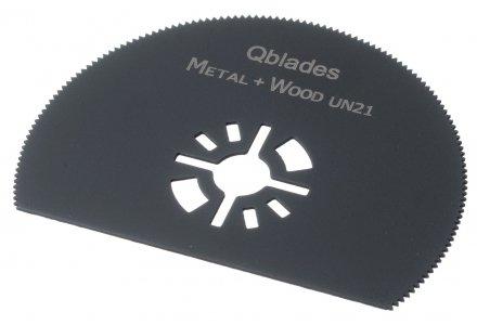 Qblades UN21 80mm multitool HSS zaagblad Hout en Metaal (Universeel)
