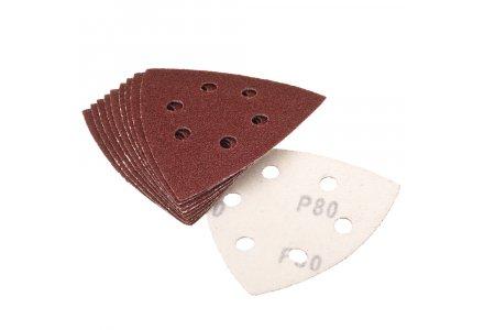 Qblades UN62 Schuurpad Driehoek Geperforeerd K80 per 10-stuks