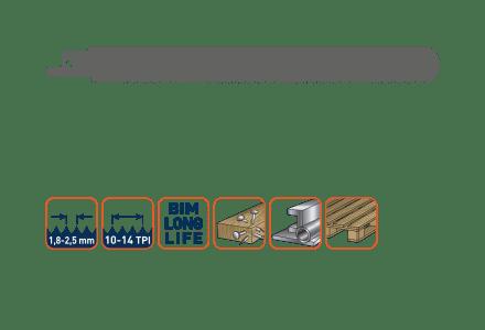 Rotec reciprozaagblad voor pallets (per 50 stuks)