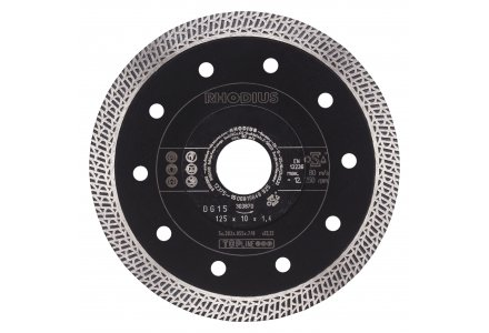 Rhodius DG15 125mm diamantzaagblad