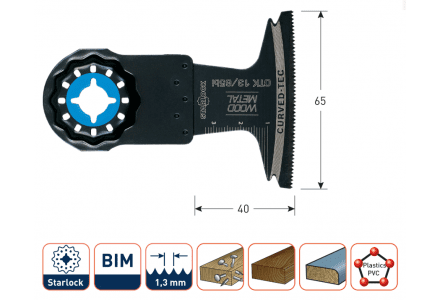 Starlock OTK13-65bi multitool zaagblad