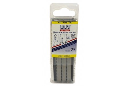 Wilpu HC12 decoupeerzaagbladen hout en kunststof (Bosch T101B) 25 stuks