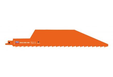 Wilpu 3043/300 HM reciprozaagblad voor Gasbeton en Rode Baksteen (Bosch S1243HM)
