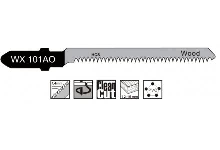 Decoupeerzaagbladen voor bochten in hout, plaatmateriaal 1,5-15mm - 5 stuks