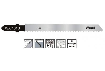 Decoupeerzaagbladen voor zachthout, plaatmateriaal en kunststof tot 30mm - 5 stuks