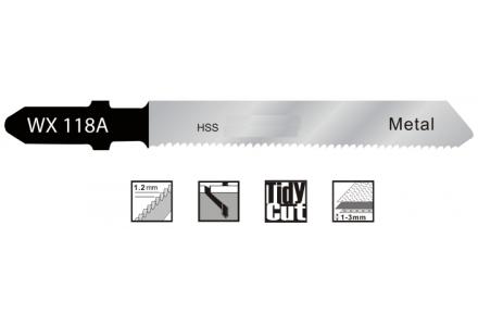 Decoupeerzaagbladen voor dun staal en blik (1-3mm) - 5 stuks