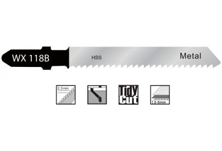 Decoupeerzaagbladen voor staal, non-ferro en aluminium (2,5-6mm) - 5 stuks