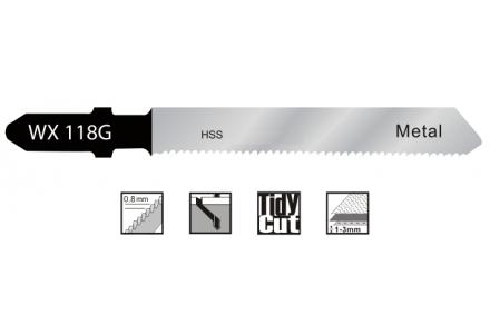 Decoupeerzaagbladen voor dun staal en blik (0,5-1,5mm) - 5 stuks