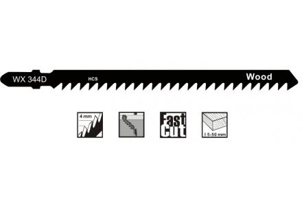 Decoupeerzaagbladen voor alle houtsoorten en plaatmateriaal (5-100mm) - 5 stuks
