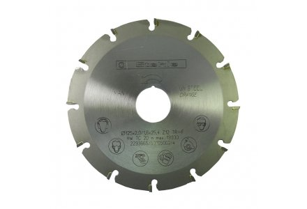 Stehle cirkelzaagblad 125x25,4x12 TRF