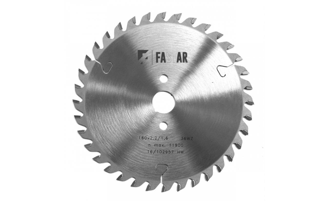Fastar HM cirkelzaagblad 250x30x80 3.2/2.5 Trapezium vlaktand (neg)