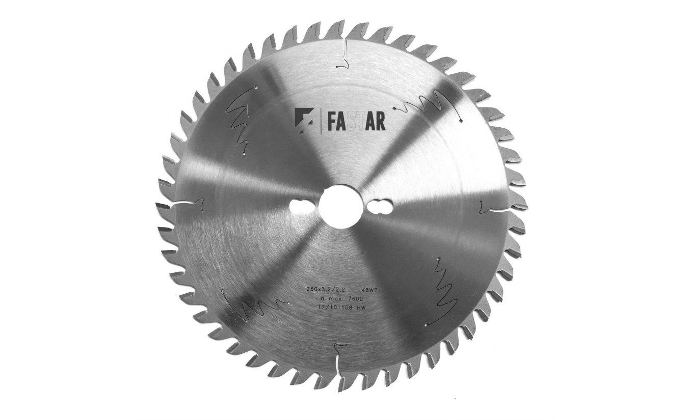 Fastar HM cirkelzaagblad 250x30x48 3.2/2.2 wisseltand