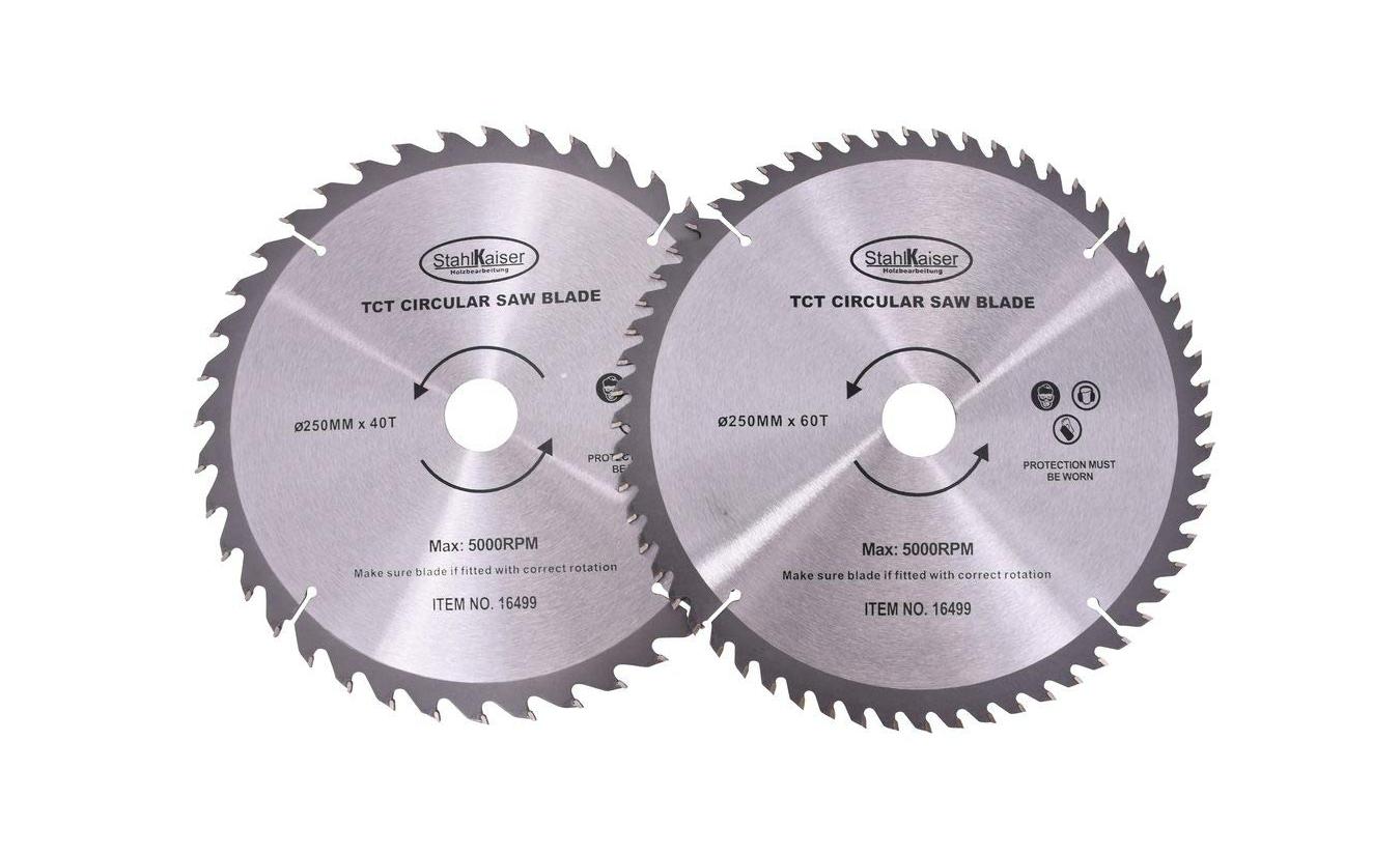 Widia cirkelzaagbladenset 250x30 40 en 60 tanden
