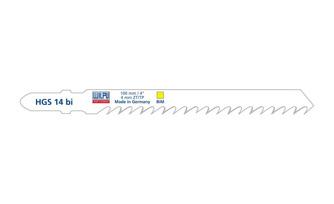 Wilpu HGS 14 bi decoupeerzaagblad universeel hout (Bosch T144DF) 5 stuks