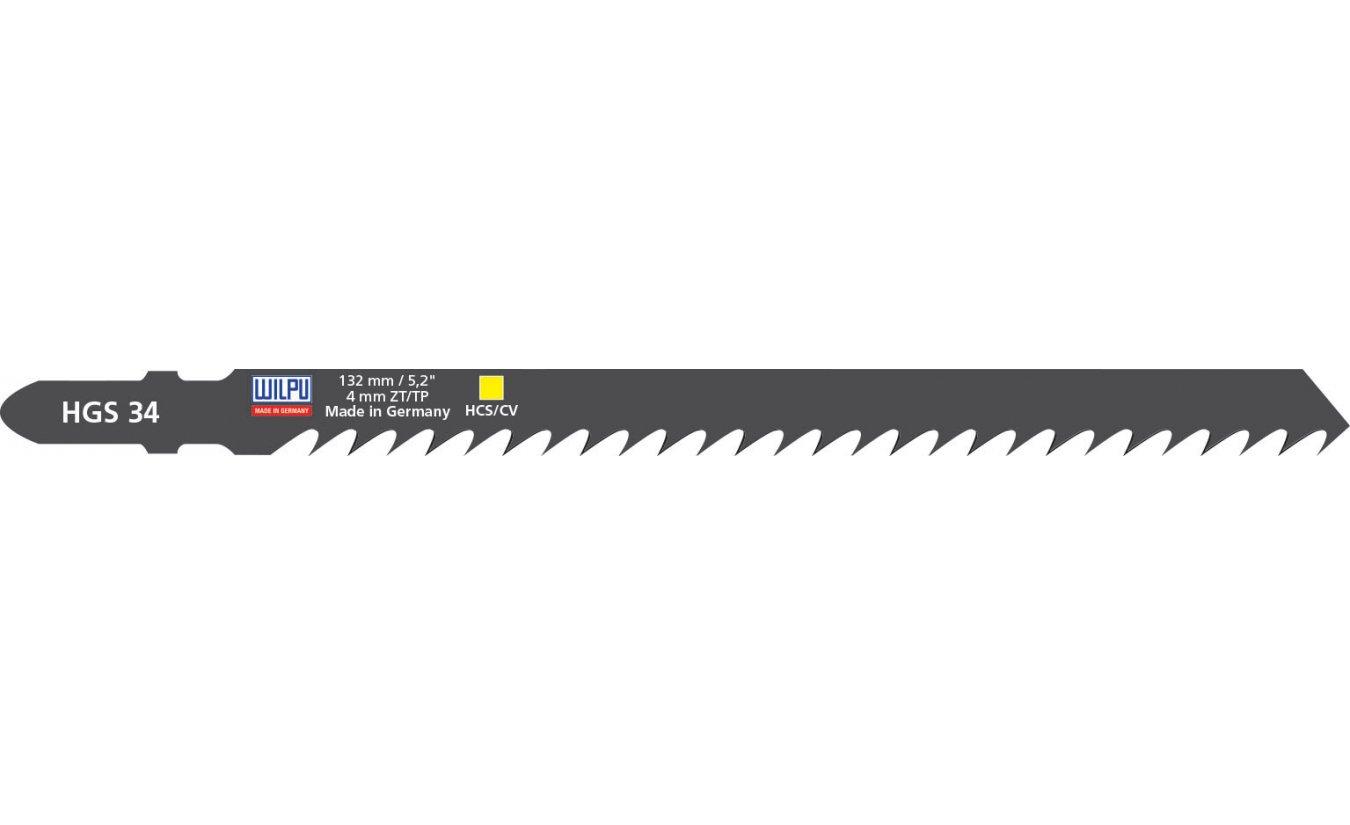 Wilpu HGS 34 decoupeerzaagblad universeel hout (Bosch T344D) 5 stuks