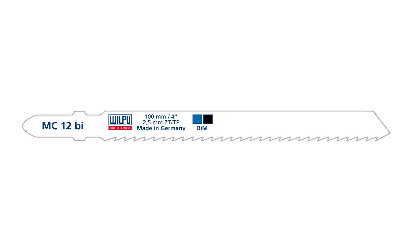 Wilpu MC 12 bi decoupeerzaagblad zacht hout en isolatiemateriaal (Bosch T101A) 5 stuks