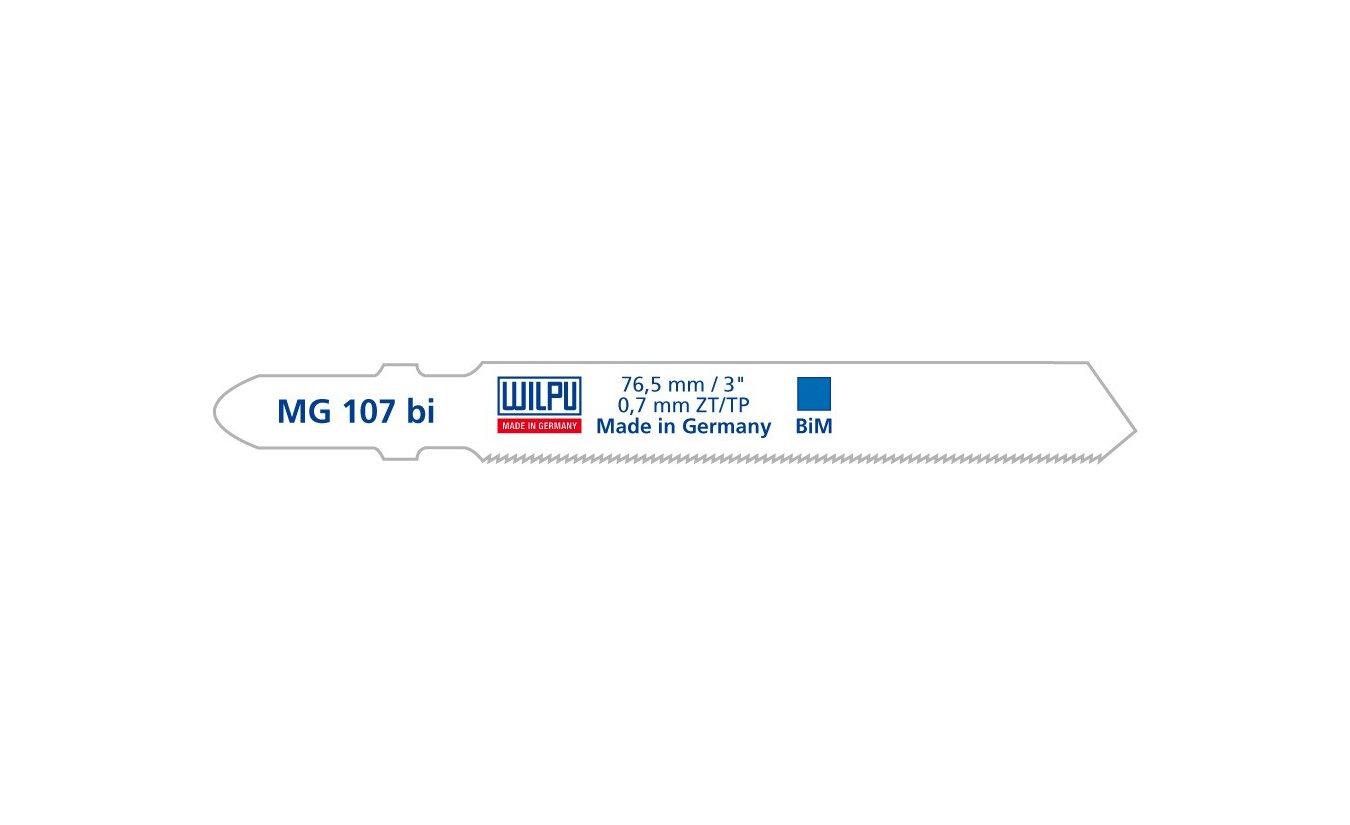 Wilpu MG 107 bi decoupeerzaagblad blik en roestvaststaal (5-stuks)