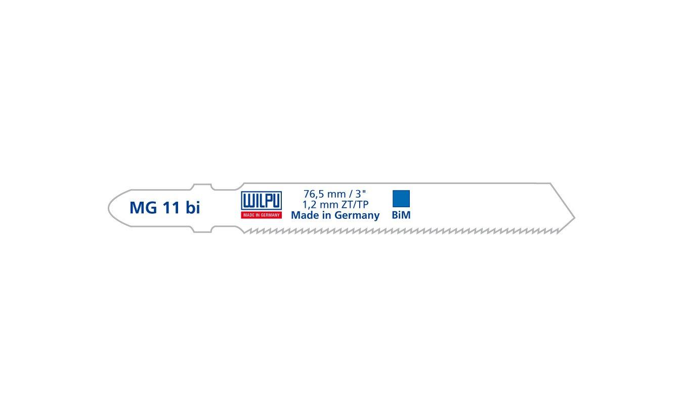 Wilpu MG 11 bi decoupeerzaagblad metaal en roestvaststaal (25-stuks)