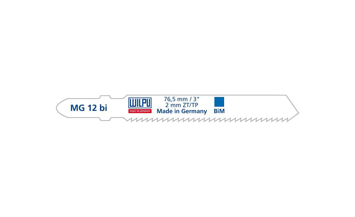 Wilpu MG 12 bi decoupeerzaagblad aluminium en non-ferro (Bosch T118BF) 5 stuks