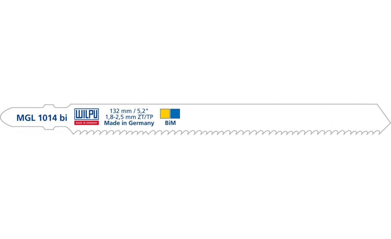 Wilpu MGL 1014 bi decoupeerzaagblad  staal en hout met spijkers (Bosch T345XF) 5 stuks