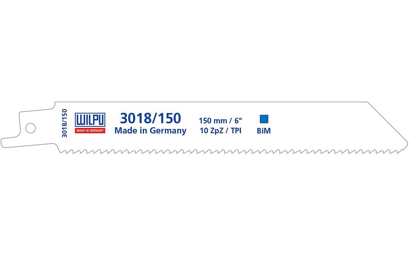 Wilpu 3018/150 reciprozaagblad Staal en RVS  (Bosch S922HF) 5 stuks