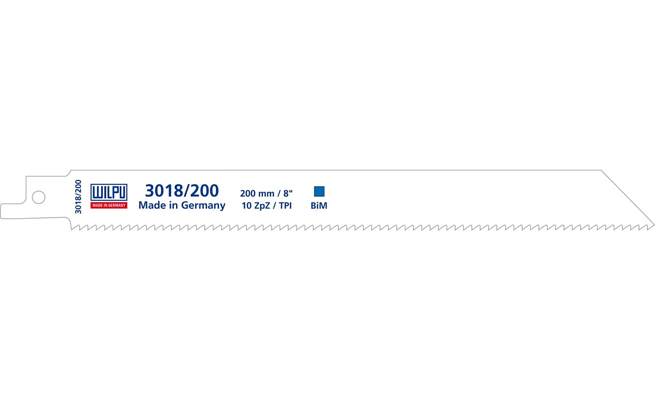 Wilpu 3018/200 reciprozaagblad Staal en RVS  (Bosch S1022HF) 5 stuks