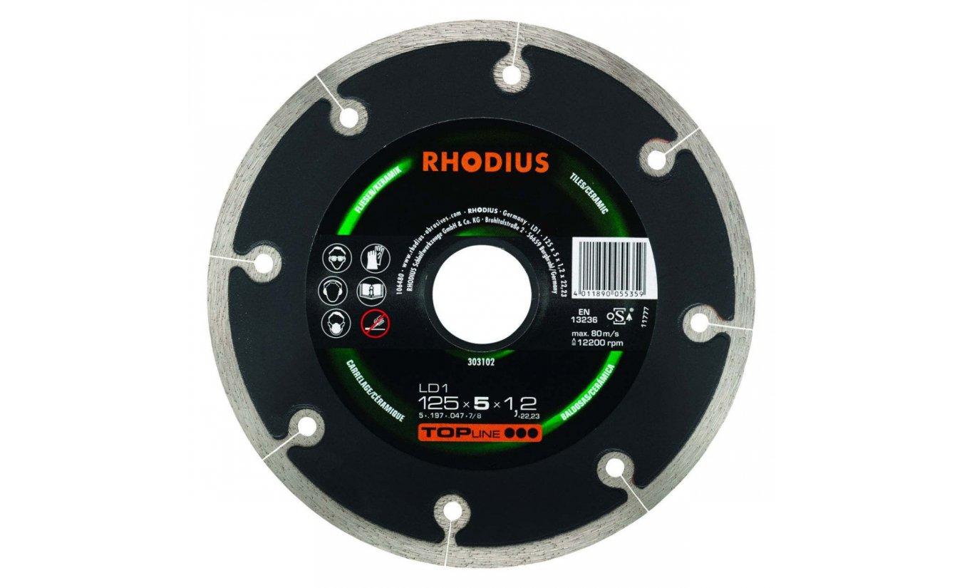 Rhodius LD1 125mm diamantzaagblad extra dun voor tegel en keramiek