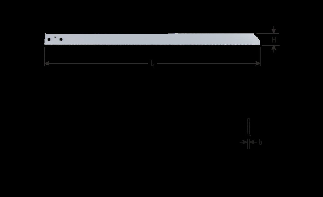 Luchtdecoupeerzaagblad HSS 300x25 16tpi