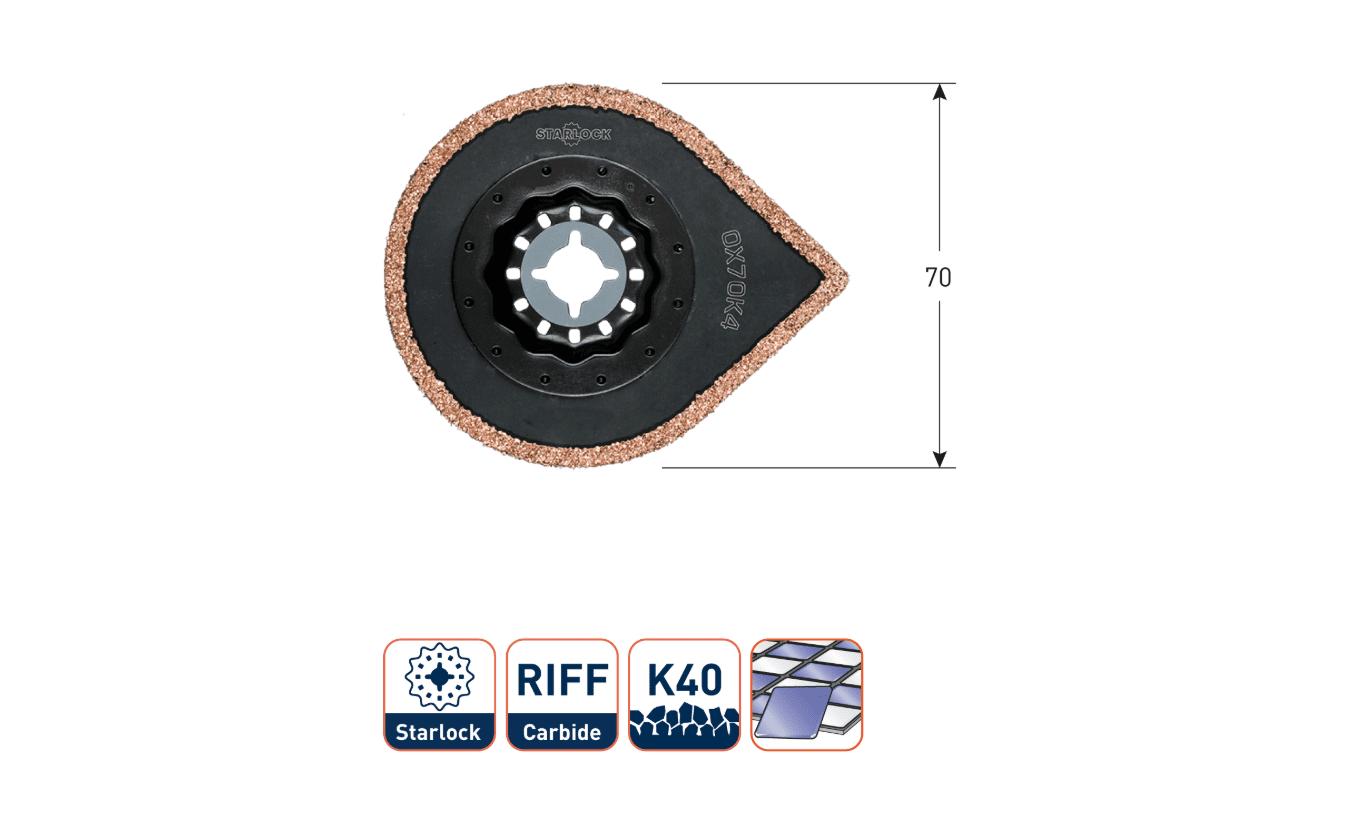Starlock OX70K4 multitool Mortel en Tegellijmverwijderaar